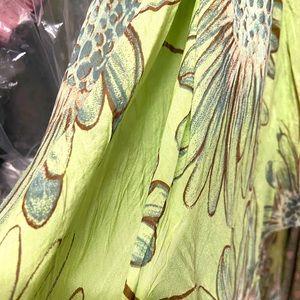 Jut in Italy Green Silk Dress